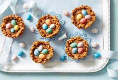 These are a fun Easter treat or school holiday cooking project that the kids can get involved in.