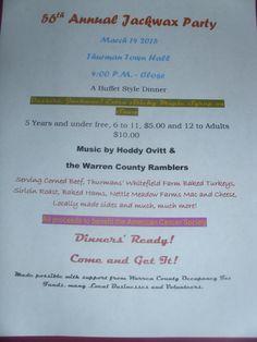 Jack Wax Party Flyer