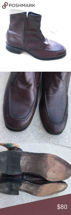 FLORSHEIM MENS LOW BOOTS Size 11 leather upper corner lining and so balance man-made made in India pre-loved priced accordingly Florsheim Shoes Boots