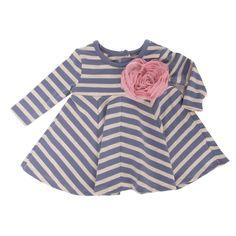 Marmellata Infant Girl Rosette and Striped Dress #VonMaur