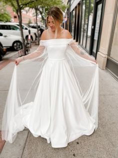 Simple Gowns, One Shoulder Wedding Dress, Cape, Pairs, Wedding Dresses, Unique, Instagram, Fashion, Mantle