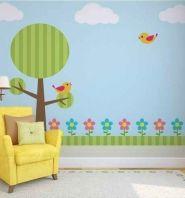Un paisaje muy divertido: Murales Infantiles, decoración de habitaciones infantiles, decoración de paredes, ideas de decoración - Trabajo de decoraconimaginacion.com