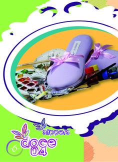 Slipper básica unicolor lila con cinta rosada #slipperbásica