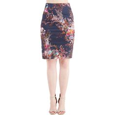 50s Mid-length Pencil Brilliant Blogger Skirt by ModCloth ($50) ❤ liked on Polyvore