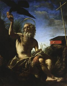 January 15th is the Feast Day of Paul of Thebes, commonly known as Paul, the First Hermit.  Carlo Dolci, Saint Paul the Hermit, 1648