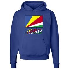 """Lovely design features the Seychellois Flag with the word """"Seychelles"""", below, in the colours or colors of the flag. Terrific for travelers wanting to recall a trip, vacation or holiday. Wonderful for honoring your ethnic heritage, ancestry and culture. Creative teachers may find some items good teaching aids or tools. Great gift ideas for Christmas, birthday or anytime. $39.99 ink.flagnation.com"""