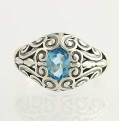 Kabana 1.60ct Blue Topaz Scrollwork Cocktail by WilsonBrothers, $79.99
