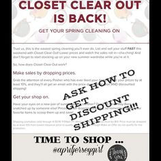 ASK ME HOW TO GET DISCOUNT SHIPPING!! WOO HOO...CLOSET CLEAR OUT IS HERE!!! ASK ME HOW!??  THINKING OF MAKING AN OFFER? Ask me FIRST...or make an offer AND IF I ACCEPT, I WILL LOWER THE PRICE FOR YOU SO YOU RECEIVE DISCOUNT SHIPPING!!  or simply let me know if you are ready to buy, or bundle and I will make a separate listing for you and drop the price to get you discounted shipping!!✨GOING ON ALL WEEKEND!!!✨TY AND HAPPY POSHING!!! Xo Other