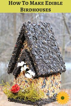 Here's how To make edible birdhouses your feathered friends will LOVE. You'll be delighted watching them too ;