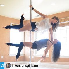 May 2015 bring you lots of awesome pole tricks! Repost @inversionsgirlsam ・・・Well, I had an amaaazing week-long vacation in Arizona with my sister; but it's time to fly back to the East Coast for the last day of 2014. ✈️ I've got so much to reflect on and even more to look forward to! Ending the year with one of my all-time favorite doubles pictures of me and @shan_stuart. Her #polesanctuary has the dreamiest lighting!
