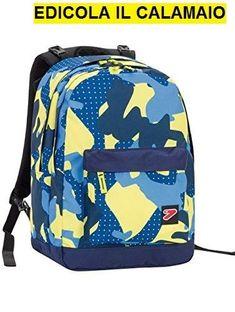 a086000957 Dettagli su Zaino SEVEN – THE DOUBLE PRO XXL – Camouflage Blue Giallo – 30  LT schienale comp