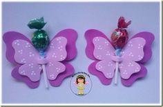 Porta Pirulito Borboleta pink