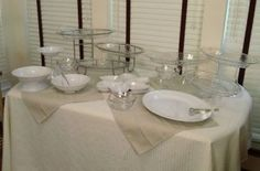 Tips for setting up a buffet table. Very informative. Really love the inverted glasses to raise dishes.