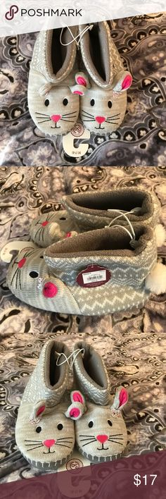 Slippers Bunny slippers  Super cute NWT! Intimates & Sleepwear
