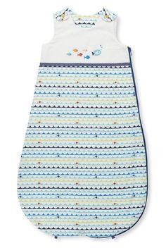 Pure Cotton Underwater Print 1.1 Tog Sleeping Bag