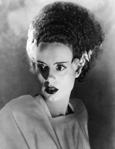 Publicity still of Elsa Lanchester as The Monster's Bride.