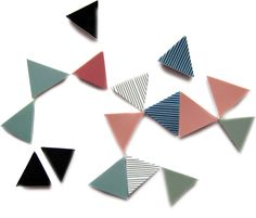 Colourful triangle magnets #triangle #geometric #magnets