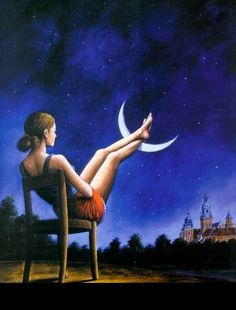 Relax ~ The moon has your feet!