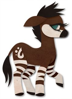 My Little Okapi by Sleepwalks.deviantart.com on @deviantART