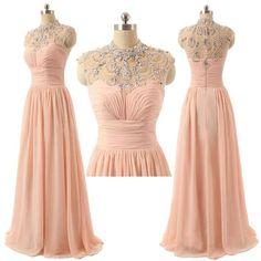 A-line princess prom dress,pink prom dress,long prom dress,chiffion dress,dress for teens,beautiful beading dress,elegant wowen dress,party dress,evening dress L553
