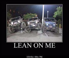 jeep meme - lean on me