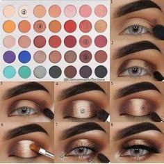 Makeup Eye Looks, Eye Makeup Steps, Eye Makeup Art, Makeup For Brown Eyes, Smokey Eye Makeup, Glam Makeup, Eyeshadow Makeup, Makeup Tips, Makeup Ideas