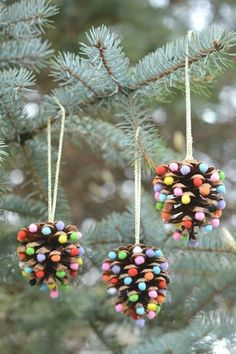 12 Easy Christmas Crafts For Kids to Make - Ideas for Christmas Decorations for Kids crafts Make These Super-Simple Christmas Crafts With Your Kids This Season Christmas Decorations For Kids, Kids Christmas Ornaments, Easy Christmas Crafts, Pinecone Ornaments, Pine Cone Crafts For Kids, Ornaments Ideas, Dough Ornaments, Pinecone Crafts Kids, Frugal Christmas