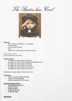 Il blog di Vera Maglia&Uncinetto: CAPPELLO SCALDACOLLO CON ORECCHIE MODELLO ORSETTO