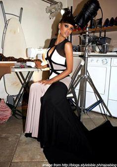 Tyra Banks wears Filipino Designer - Rajo Laurel's creation in America's Next Top Model!