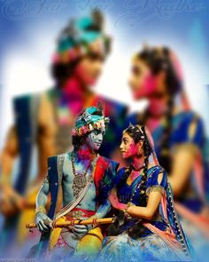 Holi Images For Whatsapp Radha Krishna Holi, Krishna Songs, Krishna Leela, Cute Krishna, Lord Krishna Images, Radha Krishna Pictures, Krishna Photos, Krishna Radha, Yashoda Krishna