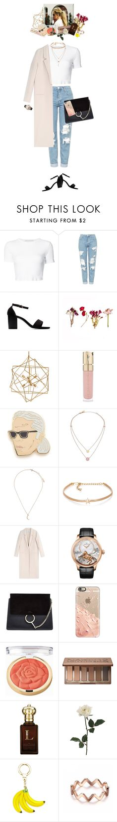 """""""rose gold accents"""" by megspiration ❤ liked on Polyvore featuring Rosetta Getty, Topshop, Smith & Cult, Georgia Perry, Michael Kors, Kenneth Jay Lane, Acne Studios, Jaquet Droz, Chloé and Casetify"""