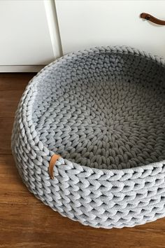 Chunky Crochet, Chunky Yarn, Crochet Home, Crochet Pet, Nyan Cat, Beige Color, Colour, Cotton Bedding, Handmade Home Decor