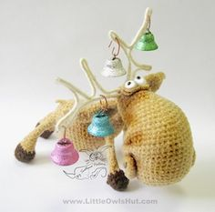 Moose Amigurumi Toy with wire frame - $5.97 by Kate of Little Owls Hut | Deer Part 1 - Animal Crochet Pattern Round Up - Rebeckah's Treasures