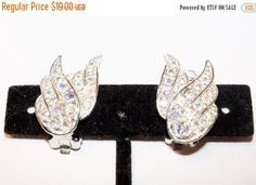 Vintage Earrings Rhinestone Sarah Coventry Wedding Party Prom Jewelry Jewellry Statement Gift for Her Christmas Birthday