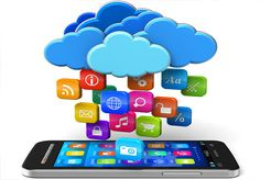 Illustration about Cloud computing and mobility concept: touchscreen smartphone and blue glossy clouds with lot of color application icons on white background. Illustration of idea, computing, cloud - 24614112 Application Mobile, Mobile Application Development, App Development, Mobile Applications, Teaching Technology, Educational Technology, Mobile Technology, Retail Technology, Social Media
