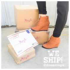 Did you know we ship out everyday!?!? Call us 225.627.2165 to order with us. #dressmingle #shipping #boutique #shopping #newkicks #weloveourcustomers #sotd #onlineshopping