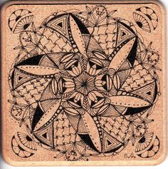 coaster zentangle