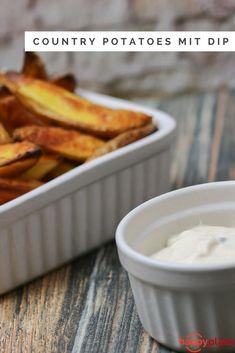 Country Potatoes aus dem Backofen mit Pfeffer-Mayonnaise
