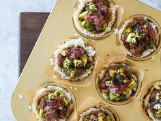 Skip the mat-and-roll routine and keep sushi night simple with these easy-to-make and impressive-to-serve cups. For a wow-worthy party...