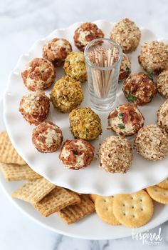 Cheese Truffles - Mini Cheeseballs with @wrightbacon Bacon #BaconTheWrightWay