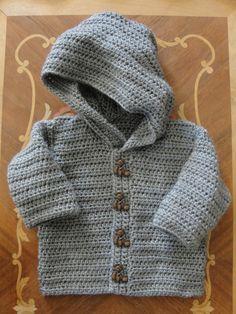 Boys GreyTeddy Bear Cardigan Hoodie Sweater 6 by bitsybeauty