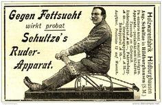 Original-Werbung/ Anzeige 1908 - GEGEN FETTSUCHT / SCHULTZE'S RUDER - APPARAT/ HOLZWAREN HILDBURGHAUSEN - ca. 90 x 55 mm