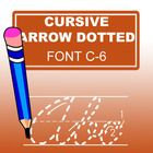 With this ABC Cursive Arrow Dotted Font, especially designed  for teachers, you can easily create hundreds of handwriting, spelling & penmanshi...
