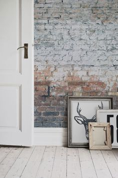 Get the look with this brick effect wallpaper design. Bringing together an industrial charm with a contemporary feel, this brick wallpaper works a dream with white Scandi inspired interiors. Brick Wallpaper Mural, Look Wallpaper, Exposed Brick Wallpaper, White Wallpaper, Scandi Wallpaper, Industrial Wallpaper, White Brick Walls, Exposed Brick Walls, White Bricks