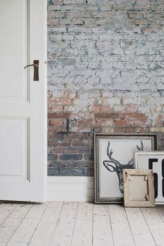 Brick Wallpaper Bedroom Ideas Bedroom Scandinavian Apartment ...