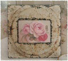 #shabby #rusty surround for a Vintage Rose Print