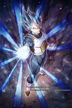 VEGETA Super Saiyan God Blue COMMISSION by marvelmania