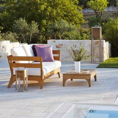 Ethimo Village Sofa With Ivory Seat Pad #garden #outdoor #furniture #summer
