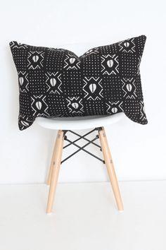 Holli Zollinger MUDCLOTH BLACK Floor Pillow