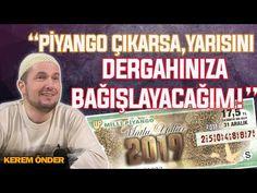 """""""PİYANGO ÇIKARSA, YARISINI DERNEĞİNİZE BAĞIŞLAYACAĞIM!"""" / Kerem Önder - YouTube Youtube, Youtubers, Youtube Movies"""